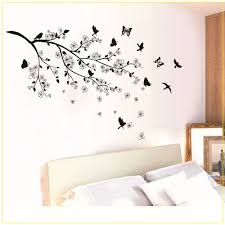26 black tree branch wall decal tree branch black bird art wall black butterfly tree flower removable wall decals sticker mural home
