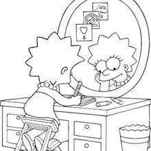 lisa maggie bart simpsons coloring pages hellokids