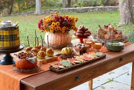 outdoor thanksgiving serveware ideas bright to dazzle your