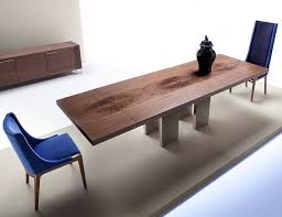 Contemporary Italian Dining Table Nella Vetrina Costantini Pietro Soho 9111 Extension Walnut Dining