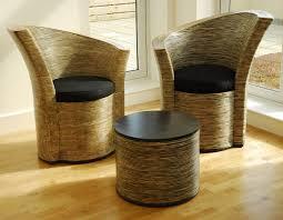 Wicker Indoor Sofa Rattan Furniture Indoor Rattan Conservatory Chairs Modern Curvy