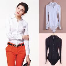 blouse button ew s sleeve cotton ol bodysuit shirt blouse