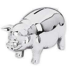 silver piggy bank for baby baby starters silver piggy bank ebay