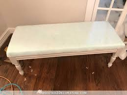 How To Upholster Dining Room Chairs Diy Upholstered Dining Room Bench Finished U2013 How To Upholster