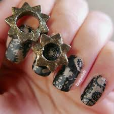 steampunk nail art and review of dimension nails notorious