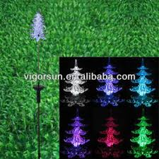 solar christmas tree lights 2014 latest rgb led color changing solar christmas tree light with