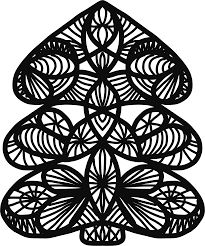 clipart abstract christmas tree line art