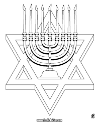 hanukiah and star of david coloring pages hellokids com