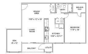apartment floor plans with dimensions apartment floor plans one bedroom den apartments in clifton park