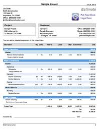 Estimate Sheet Templates by Cost Estimate Spreadsheet Template Haisume