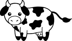 cow head black and white family coloring page wecoloringpage