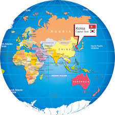 Yemen On World Map by Where Is Korea On World Globe