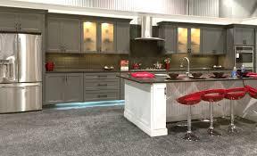 kitchen beautiful natural cherry shaker cabinets dove grey
