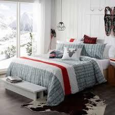 parure de lit imprimee sepia nouveautes carre blanc to buy