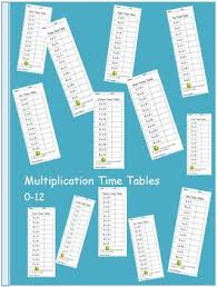 Multiplication Time Tables Multiplication Time Tables Quizzes Numbers 0 12 By Our Life Long