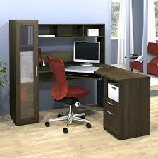 homcom 3pc l shaped corner desk student computer workstation home