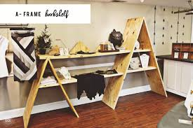 display tables for boutique diy a frame bookshelf console table