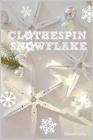 clothespin snowflakes stonegable