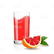 drink splash grapefruit juice in glass red juice splash vector stock vector art