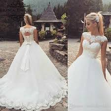 hire wedding dresses discount 2017 new arrival sheer bridal dresses cap sleeve