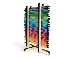 Pen Organizer For Desk Wood Marker Holder Etsy