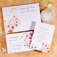 autumn wedding invitations brown and gold wedding invitations invitesweddings