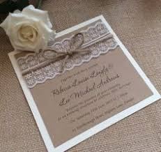 vintage lace wedding invitations personalised handmade vintage lace wedding invitation with ribbon