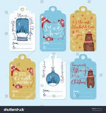 set 6 creative christmas gift tags stock vector 335298176