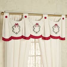 holly wreath swag valance window treatment