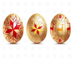 gold easter eggs golden easter eggs royalty free vector clip image 26345 rfclipart