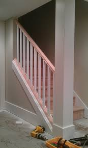Replacement Stair Banisters Basement Stair Removing Part Of The Wall And Replacing It With