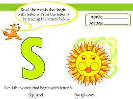 kids under 7 alphabet worksheets trace and print letter s