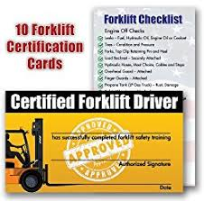 forklift certification card info to include in the license