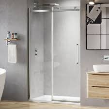 1200mm designer frameless easyclean sliding shower door 8mm soak com