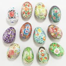 paper mache easter eggs paper mache eggs set of 12 world market