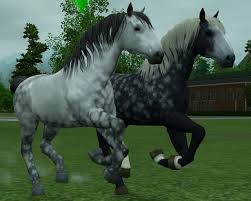 sims 3 australian shepherd mod the sims percheron dapple gray and blue roan