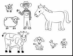 Superb Farm Animals Coloring Pages Printable With Farm Coloring Farm Color Page