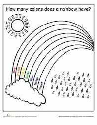how many colors in a rainbow worksheet education com
