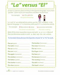 nouns in spanish worksheet education com