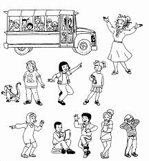 the magic bus coloring pages the pictures to print