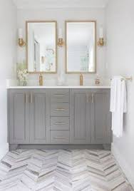 beautiful gray and white bathroom is fitted with a a gray
