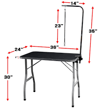 dog hair cutting table oxgord 30 large pet foldable grooming table adjustable arm noose
