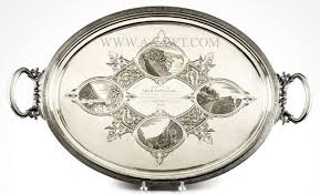 engraved silver platter antique silver flatware silver tableware