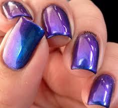 purple haze multi chrome color shifting nail polish puple