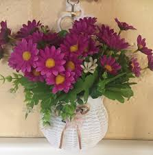 artificial flowers hanging basket with artificial flowers 8 o clock sun