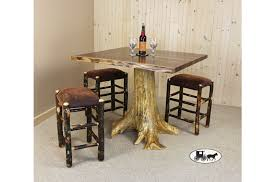 rustic high top table amish and adirondack pub sets gathering tables new york