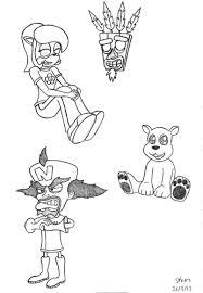 Crash Bandicoot Characters 1 By Simonarty On Deviantart Crash Bandicoot Coloring Pages