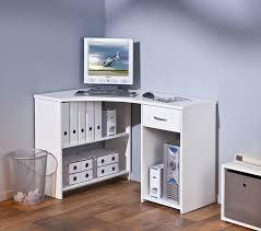 bureau en coin meuble bureau ordinateur blanc en coin grossi belfurn