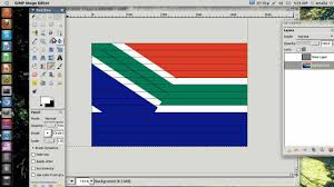 I Am The Flag How To Draw The Flag Of South Africa Using Gimp Youtube