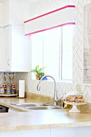 Herringbone Kitchen Backsplash Diy Herringbone Faux Backsplash U2013 A Beautiful Mess